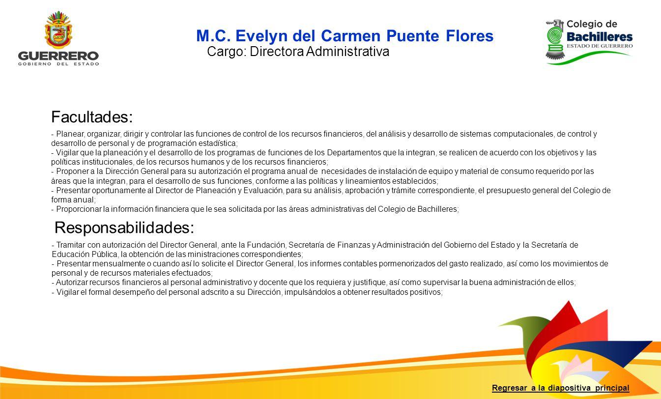 M.C. Evelyn del Carmen Puente Flores