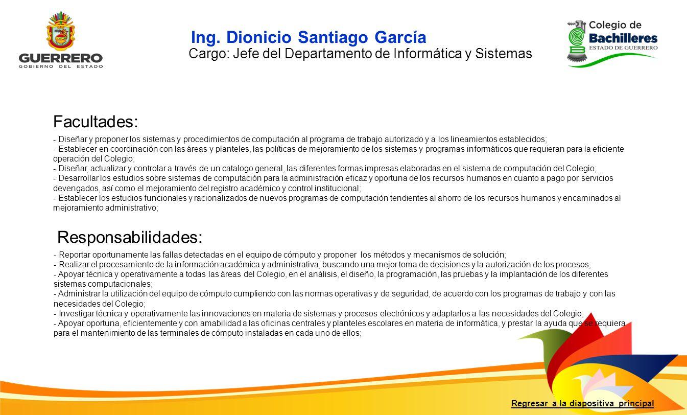 Ing. Dionicio Santiago García