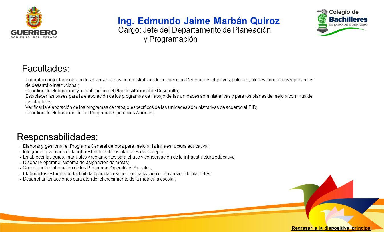 Ing. Edmundo Jaime Marbán Quiroz