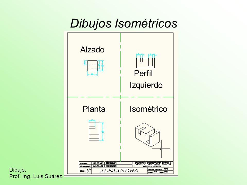 Dibujos Isométricos Alzado Perfil Izquierdo Planta Isométrico Dibujo.