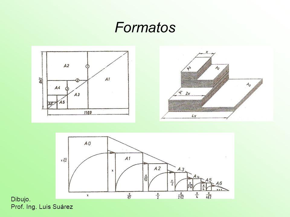 Formatos Dibujo. Prof. Ing. Luis Suárez