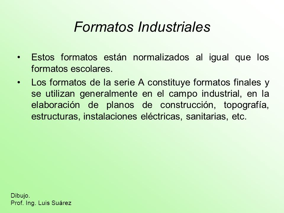 Formatos Industriales