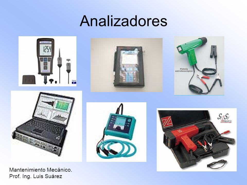 Analizadores Mantenimiento Mecánico. Prof. Ing. Luis Suárez 10