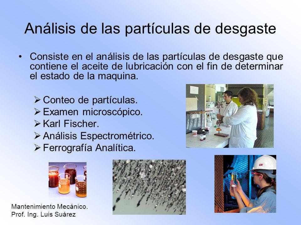 Análisis de las partículas de desgaste