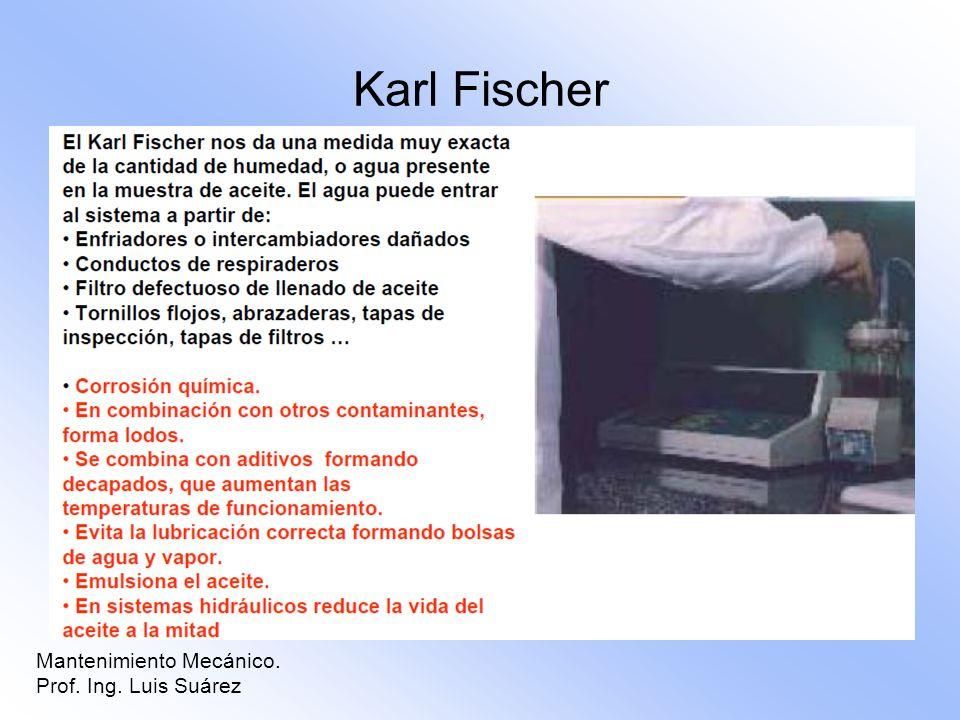 Karl Fischer Mantenimiento Mecánico. Prof. Ing. Luis Suárez