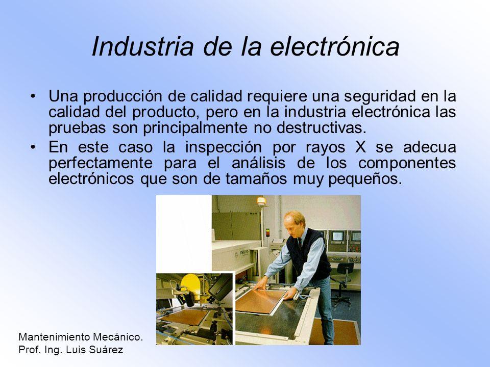 Industria de la electrónica