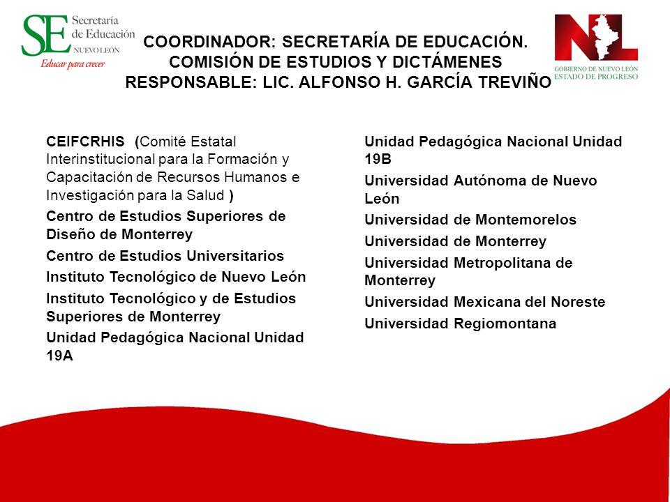 COORDINADOR: SECRETARÍA DE EDUCACIÓN