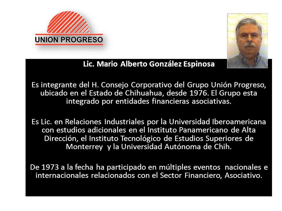 Lic. Mario Alberto González Espinosa