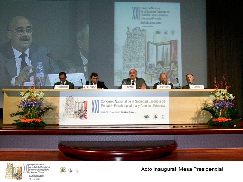 Acto inaugural: Mesa Presidencial