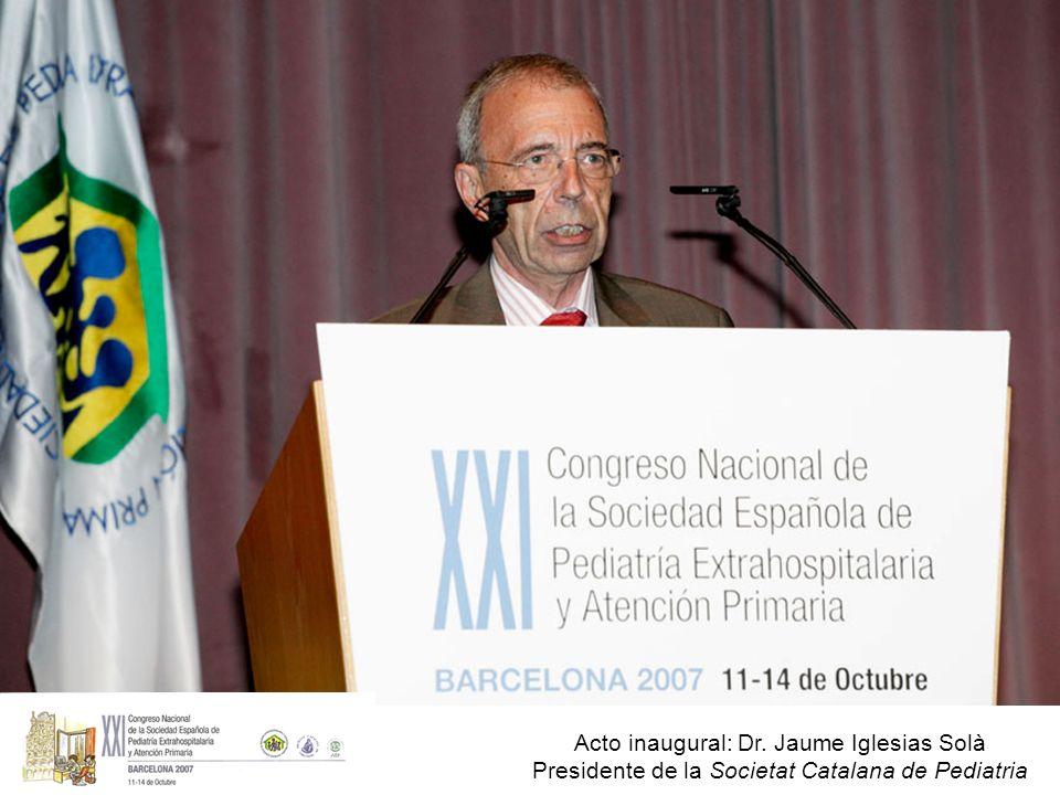 Acto inaugural: Dr. Jaume Iglesias Solà