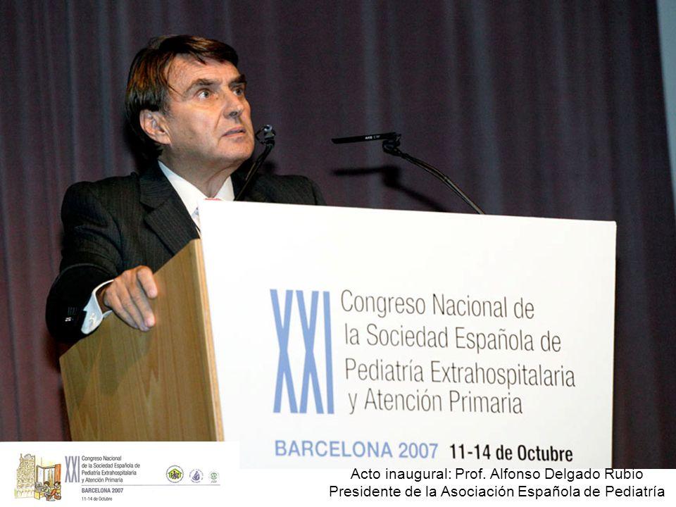 Acto inaugural: Prof. Alfonso Delgado Rubio