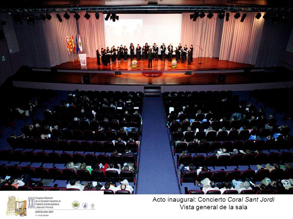 Acto inaugural: Concierto Coral Sant Jordi Vista general de la sala