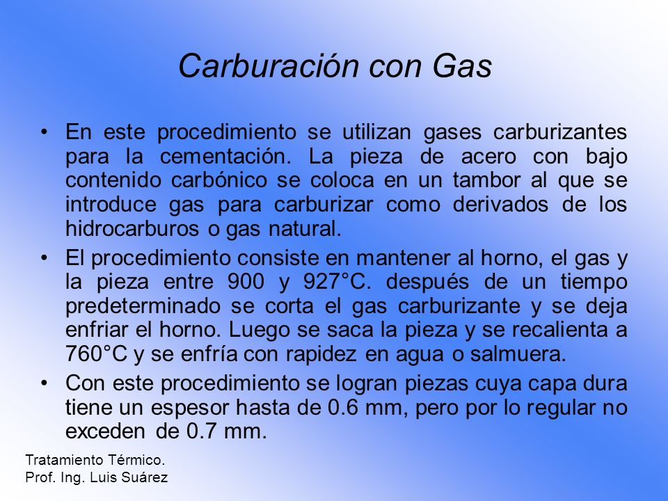 Carburación con Gas