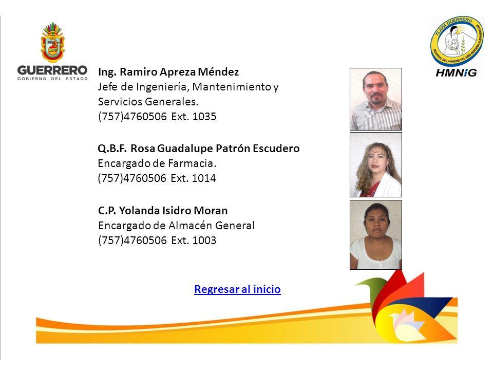 Ing. Ramiro Apreza Méndez