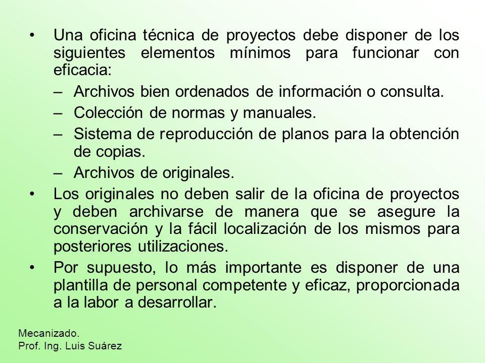 Archivos bien ordenados de información o consulta.