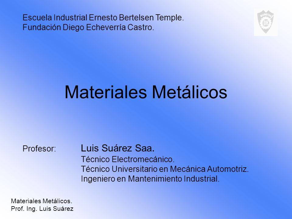 Materiales Metálicos Escuela Industrial Ernesto Bertelsen Temple.