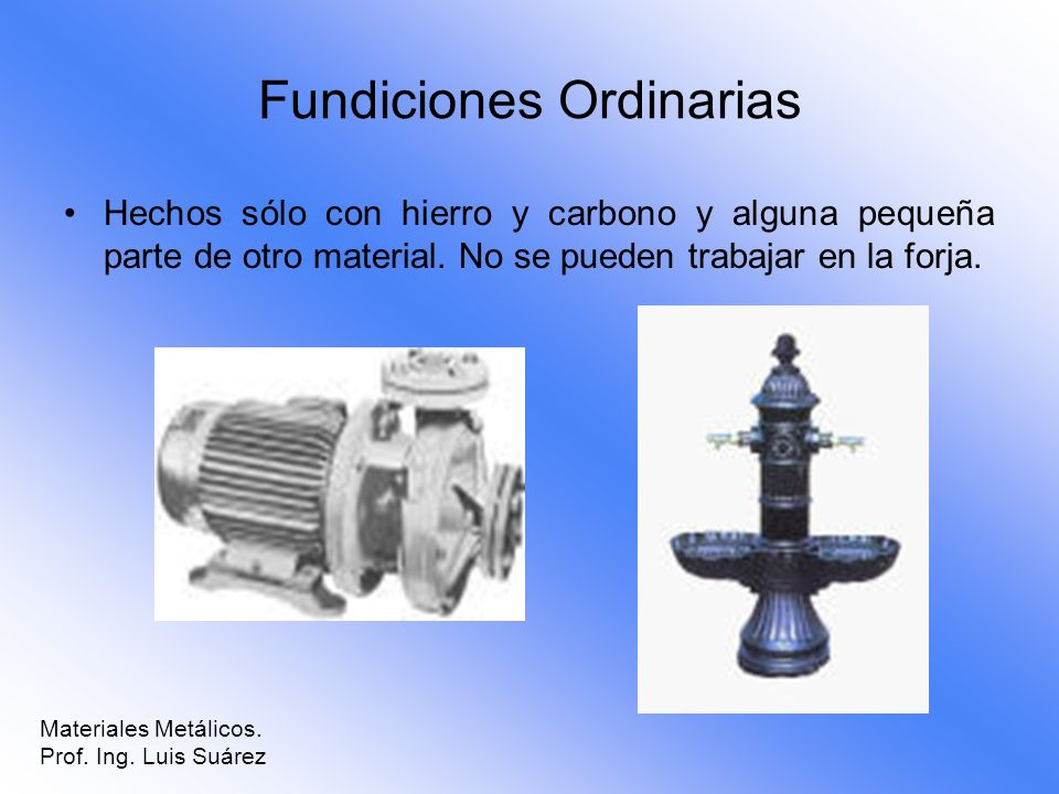Fundiciones Ordinarias
