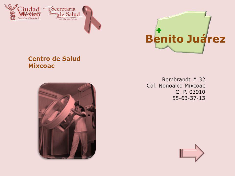 Benito Juárez Centro de Salud Mixcoac Rembrandt # 32