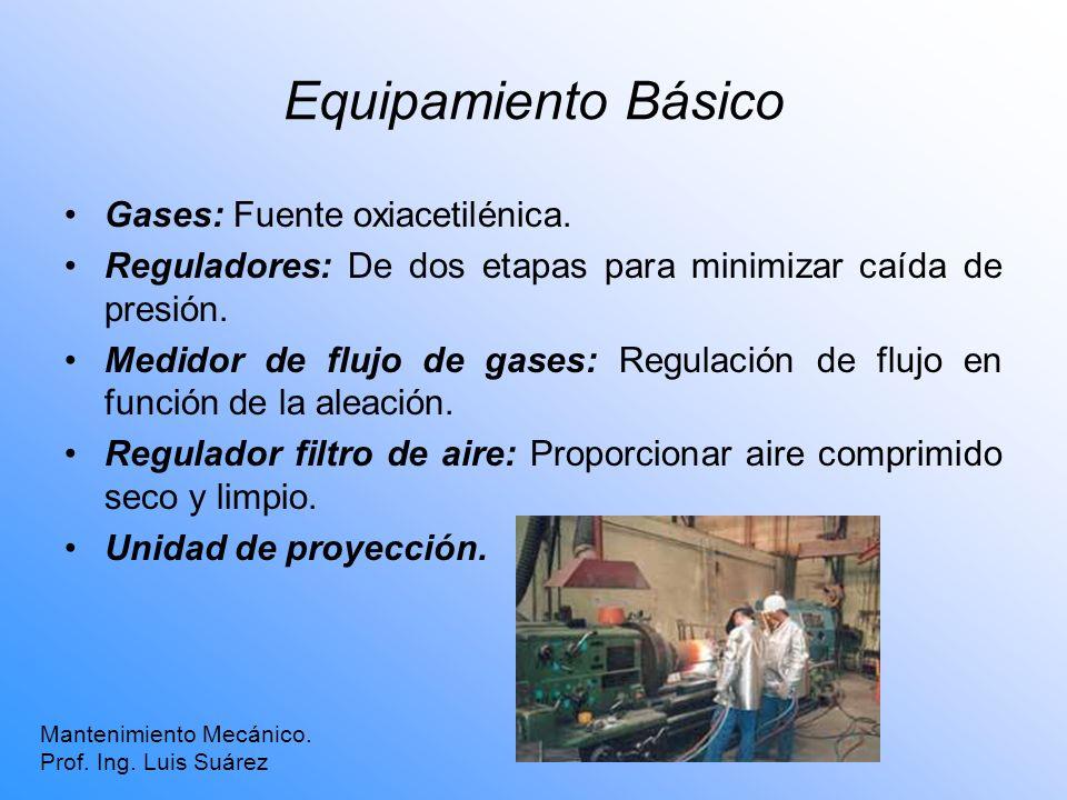Equipamiento Básico Gases: Fuente oxiacetilénica.
