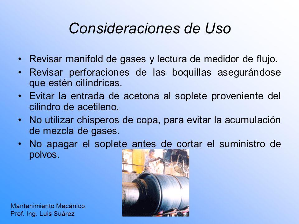 Consideraciones de Uso