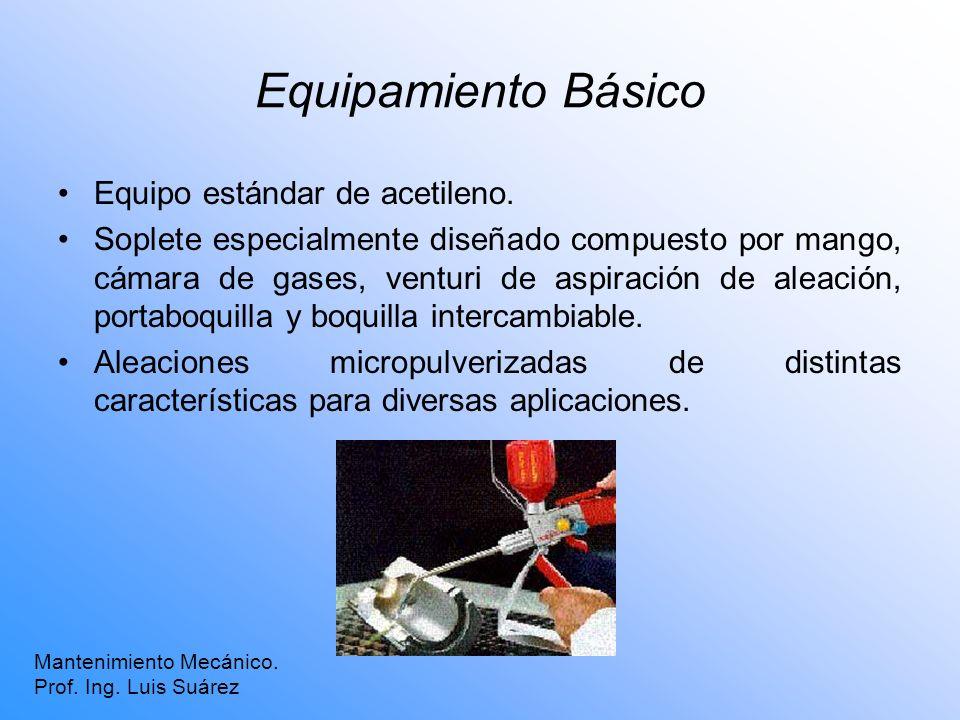 Equipamiento Básico Equipo estándar de acetileno.