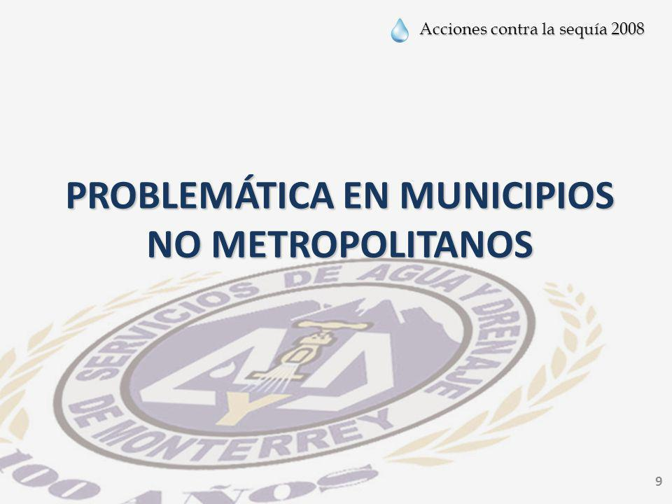 PROBLEMÁTICA EN MUNICIPIOS NO METROPOLITANOS