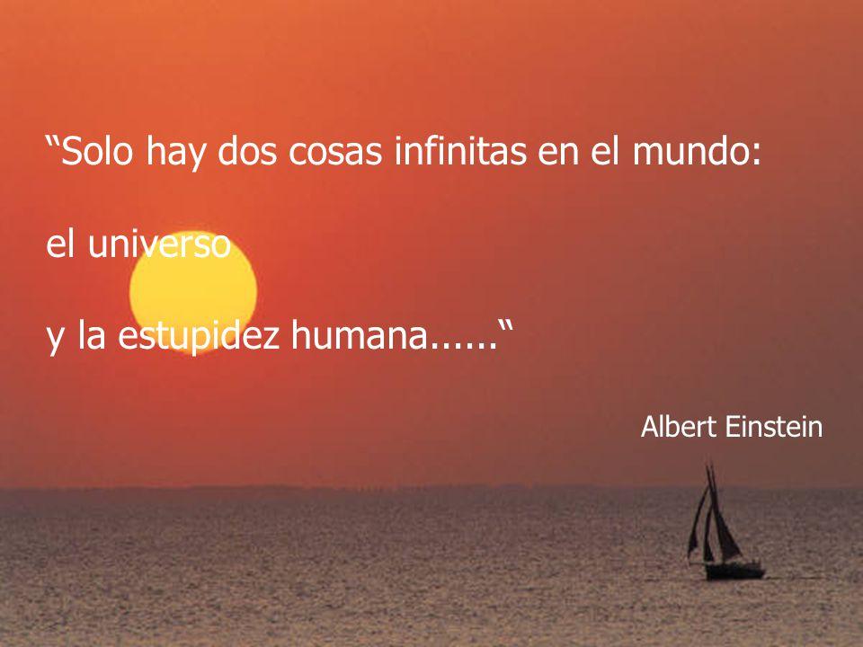 Solo hay dos cosas infinitas en el mundo: el universo
