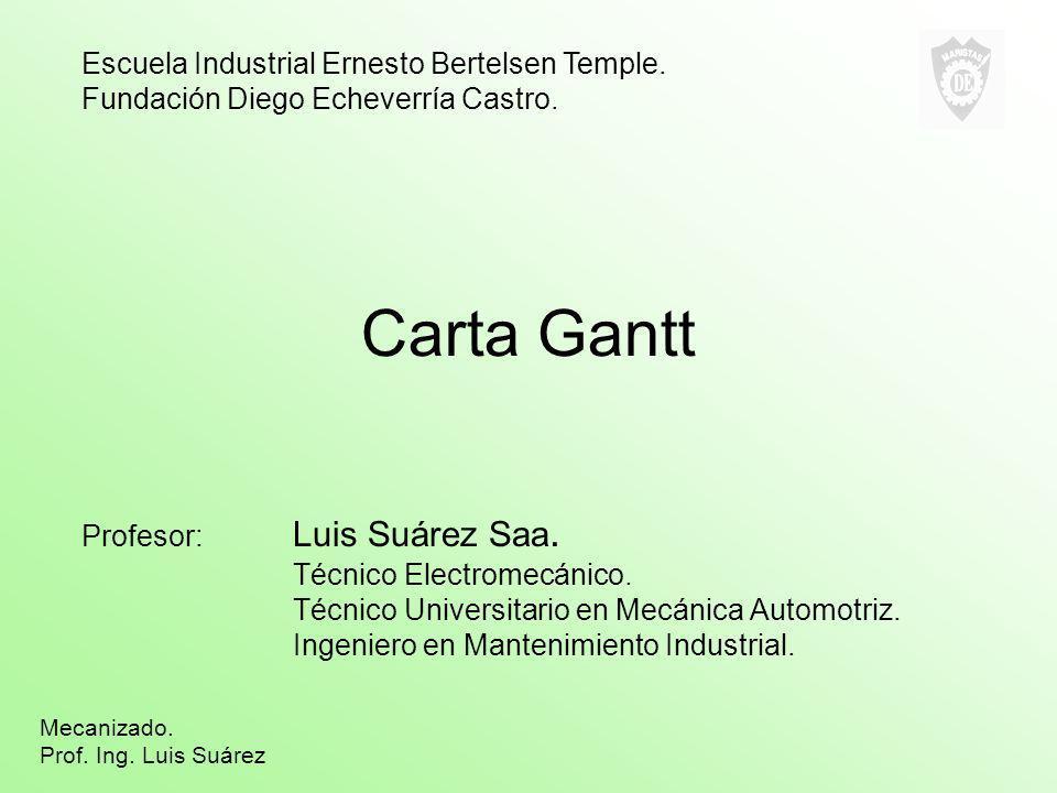 Carta Gantt Escuela Industrial Ernesto Bertelsen Temple.