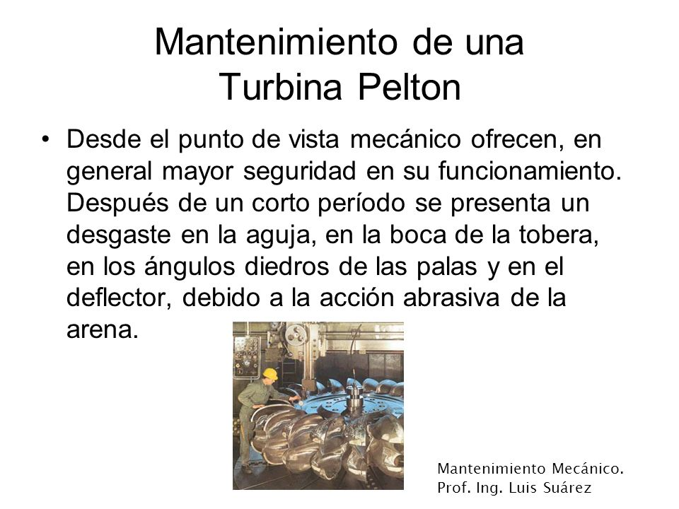 Mantenimiento de una Turbina Pelton