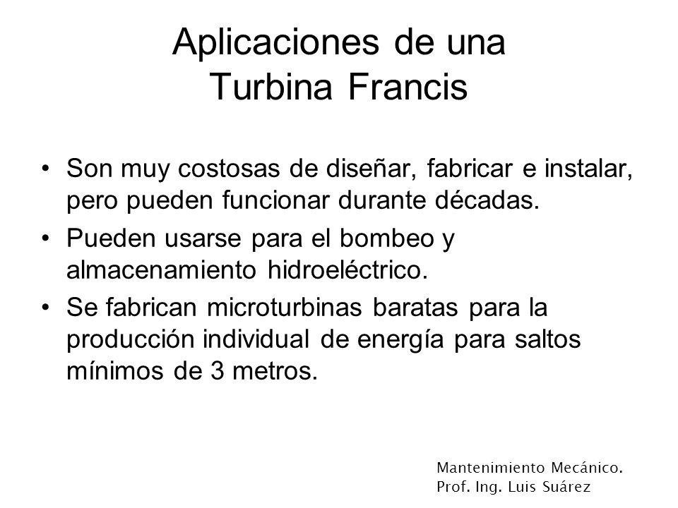 Aplicaciones de una Turbina Francis