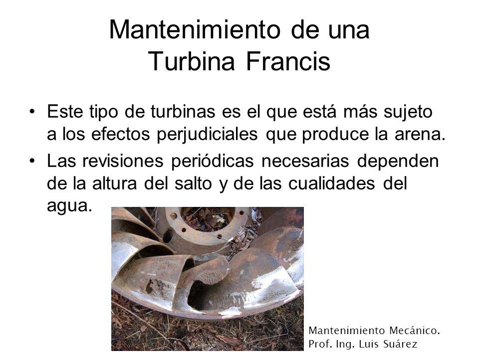 Mantenimiento de una Turbina Francis
