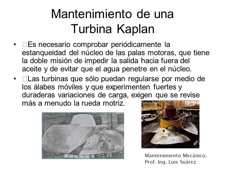 Mantenimiento de una Turbina Kaplan
