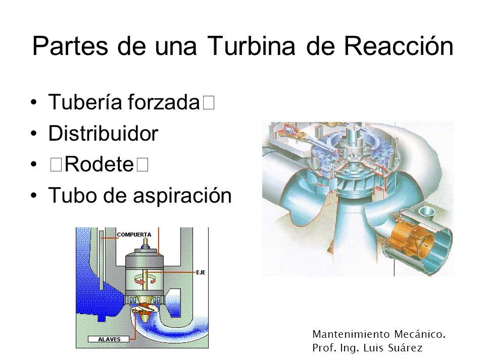 Partes de una Turbina de Reacción