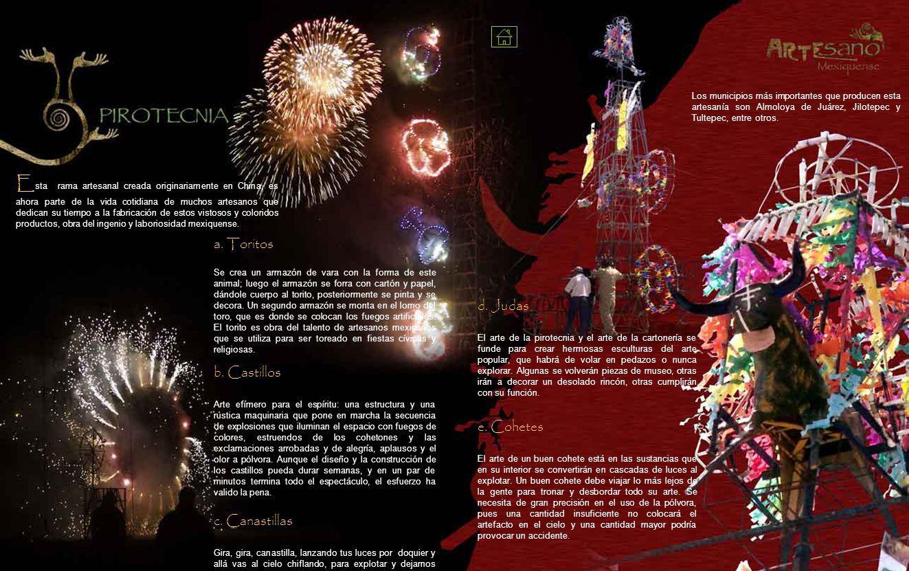 Los municipios más importantes que producen esta artesanía son Almoloya de Juárez, Jilotepec y Tultepec, entre otros.