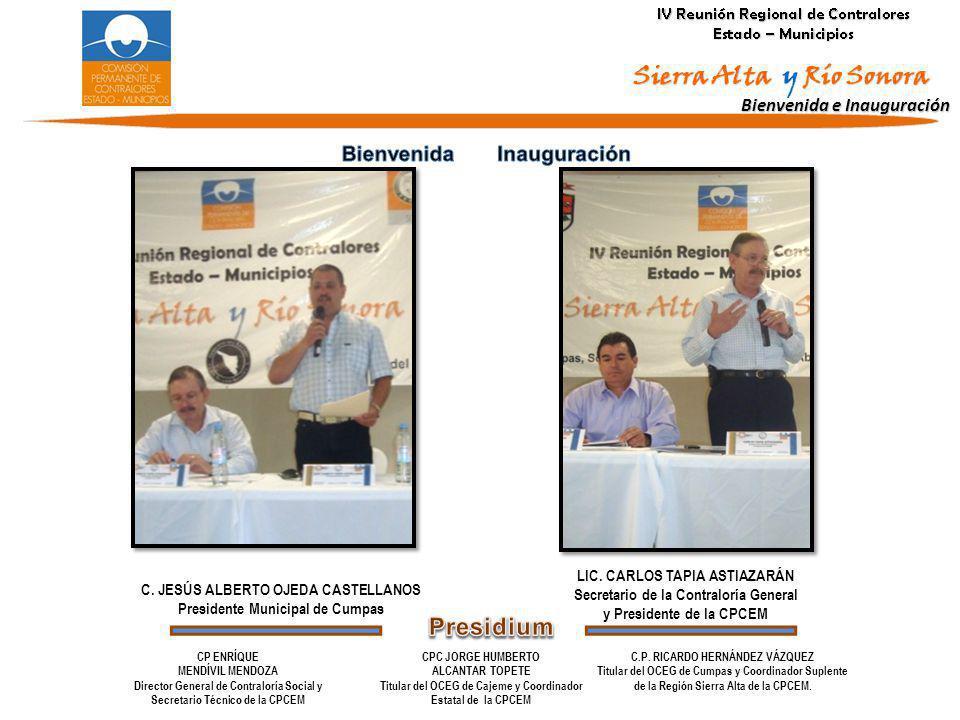 Presidium Bienvenida Inauguración Bienvenida e Inauguración