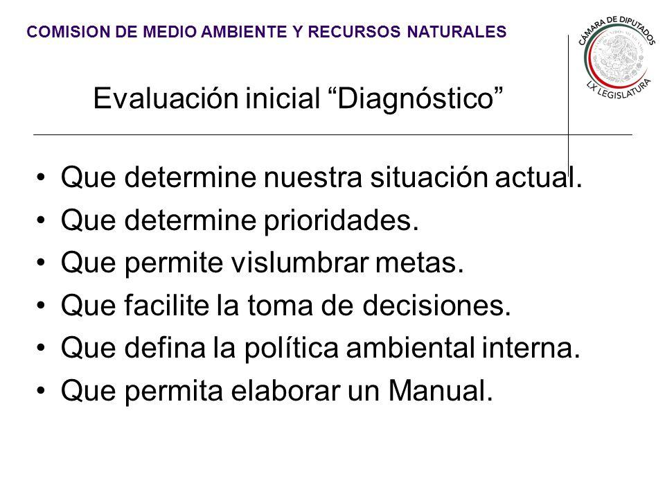 Evaluación inicial Diagnóstico