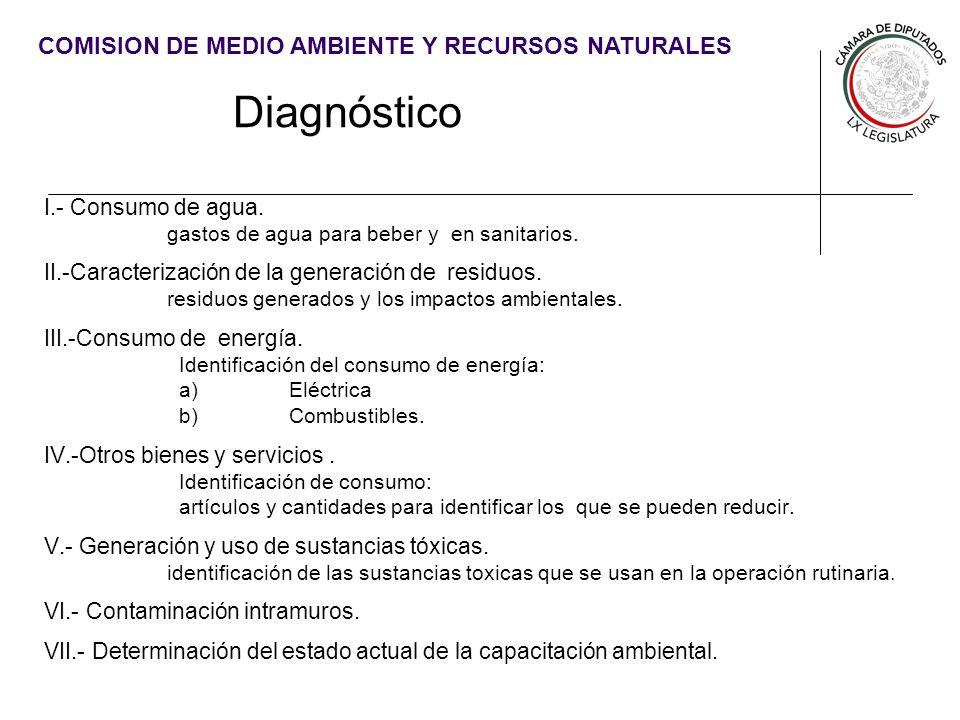 Diagnóstico I.- Consumo de agua.
