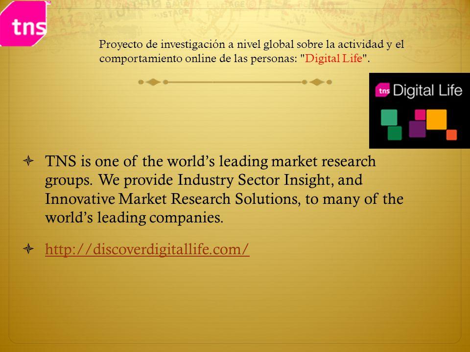 Proyecto de investigación a nivel global sobre la actividad y el comportamiento online de las personas: Digital Life .