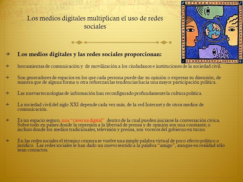 Los medios digitales multiplican el uso de redes sociales