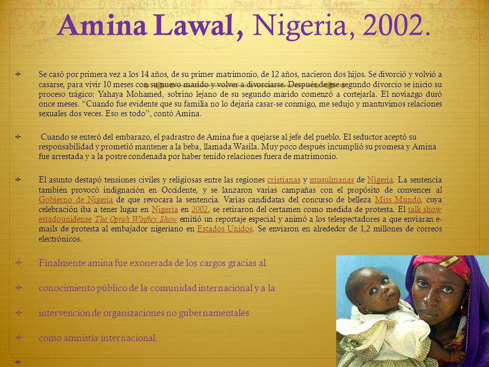 Amina Lawal, Nigeria, 2002.