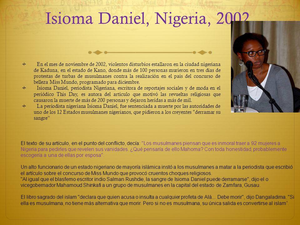 Isioma Daniel, Nigeria, 2002,