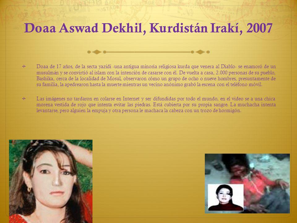 Doaa Aswad Dekhil, Kurdistán Irakí, 2007