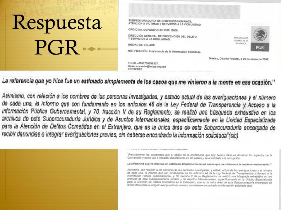 Respuesta PGR