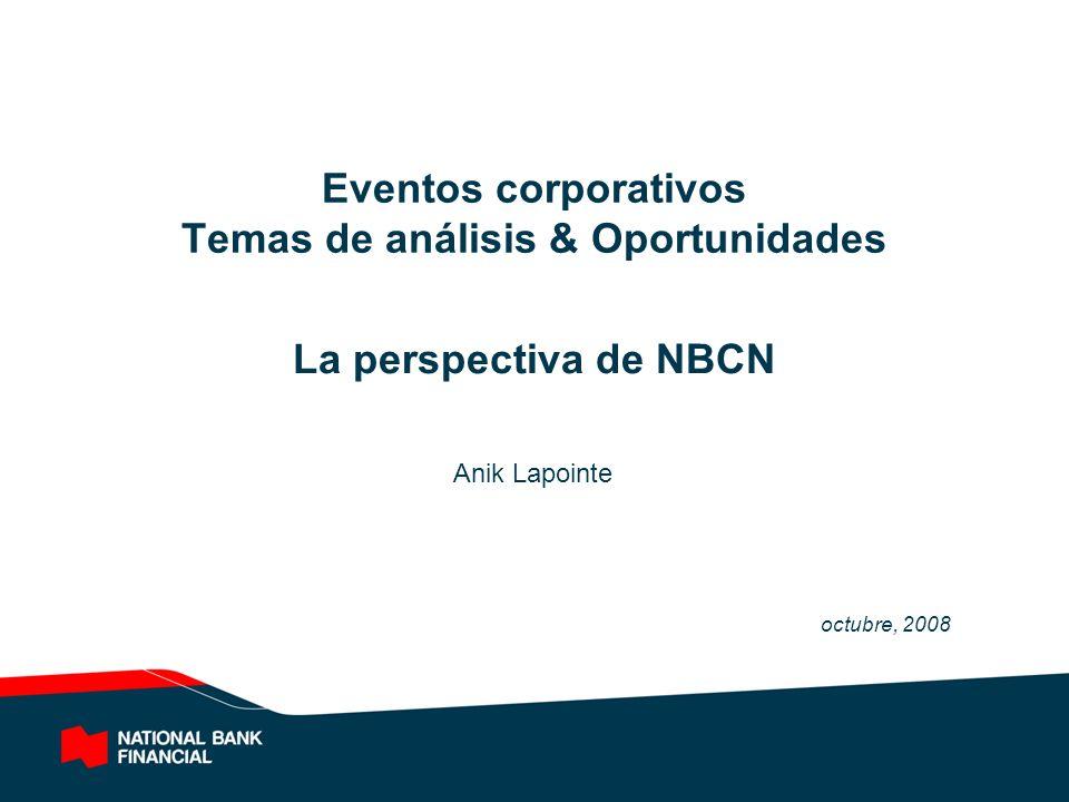 Eventos corporativos Temas de análisis & Oportunidades