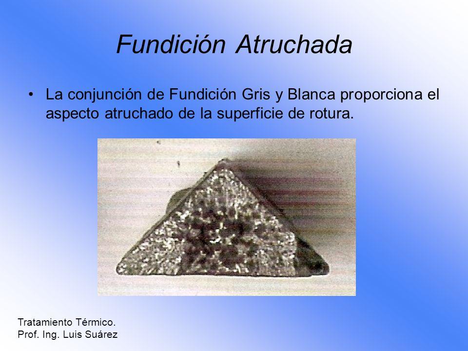 Fundición AtruchadaLa conjunción de Fundición Gris y Blanca proporciona el aspecto atruchado de la superficie de rotura.