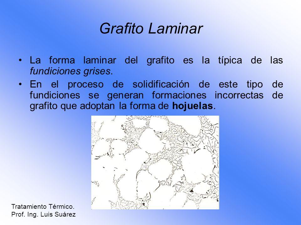 Grafito LaminarLa forma laminar del grafito es la típica de las fundiciones grises.