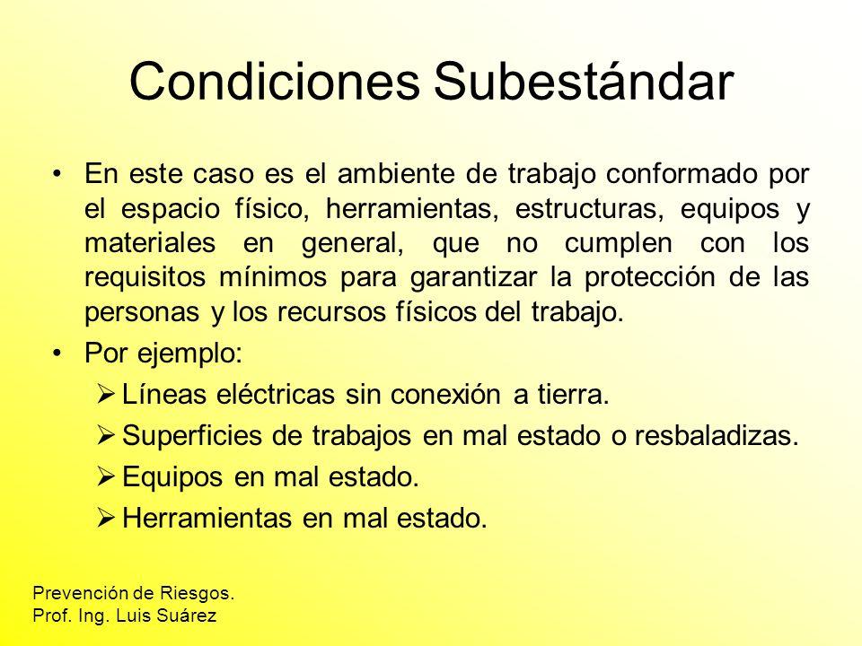 Condiciones Subestándar