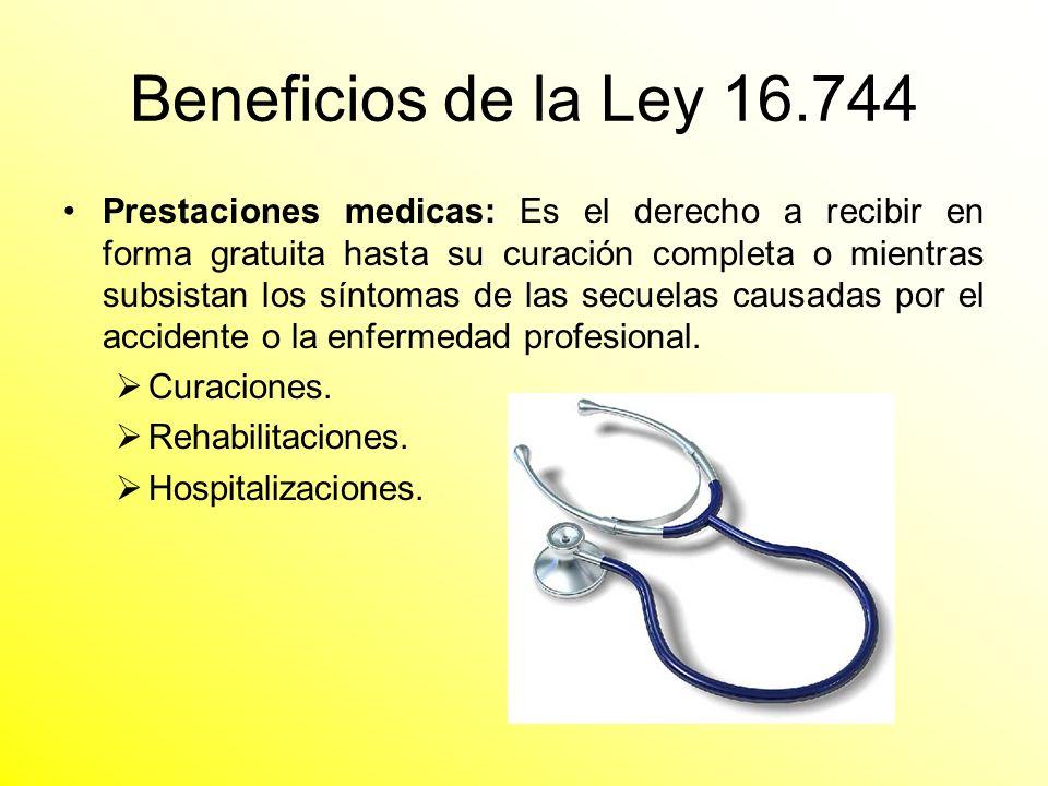 Beneficios de la Ley 16.744