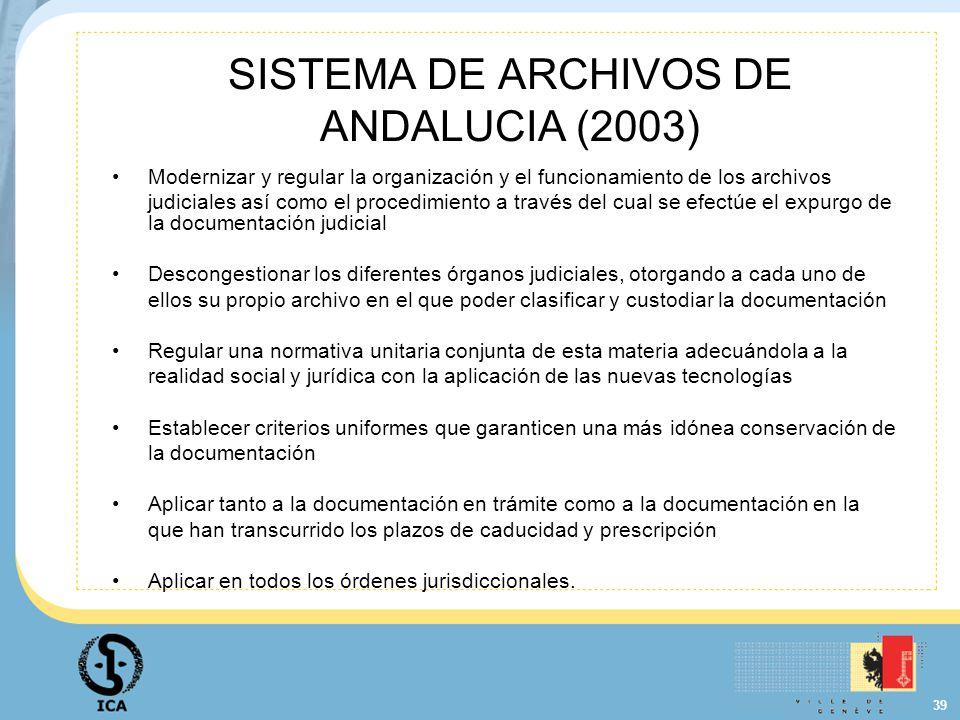 SISTEMA DE ARCHIVOS DE ANDALUCIA (2003)