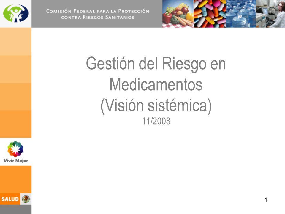 Gestión del Riesgo en Medicamentos (Visión sistémica) 11/2008